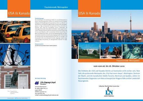 USA & Kanada USA & Kanada - LN-Hapag-Lloyd Reisebüro