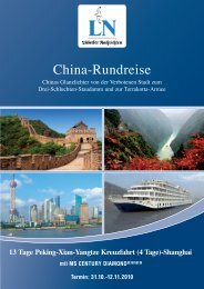 China-Rundreise - LN-Hapag-Lloyd Reisebüro