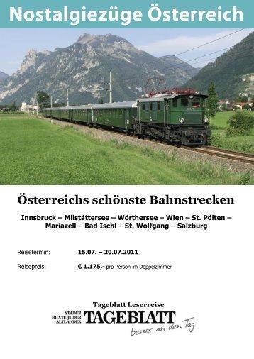 Nostalgiezüge Österreich 4s.indd - LN-Hapag-Lloyd Reisebüro