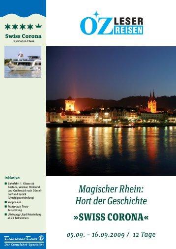 SWISS CORONA - LN-Hapag-LLoyd Reisebüro Lübeck