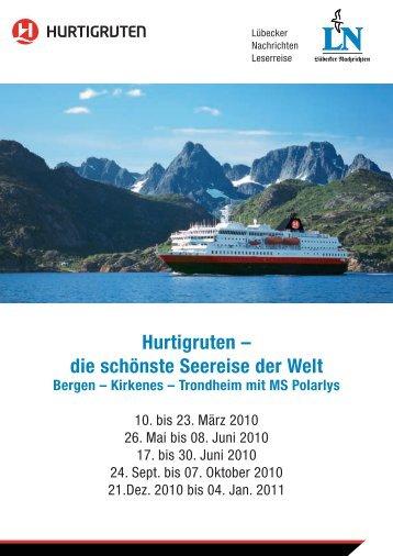 Hurtigruten - LN-Hapag-LLoyd Reisebüro Lübeck