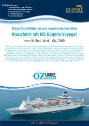 Kreuzfahrt mit MS Delphin Voyager - LN-Hapag-Lloyd Reisebüro