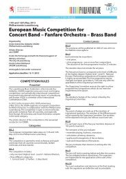 European Music Competition for Concert Band - Union Grand-Duc ...