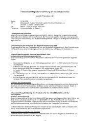 Protokoll der Mitgliederversammlung des ... - Acción Francisco e.v.
