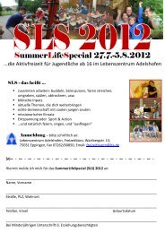 Flyer SLS12.pdf - Lebenszentrum Adelshofen