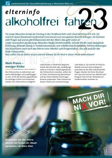 Elterninfo alkoholfrei fahren - Landeszentrale für ...