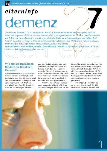 Elterninfo Demenz - Landeszentrale für Gesundheitsförderung in ...