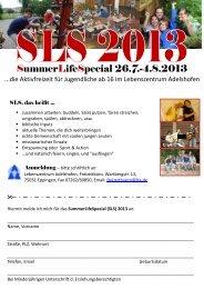 Flyer SLS13.pdf - Lebenszentrum Adelshofen