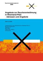 Raucherentwöhnungskurse - in Rheinland-Pfalz