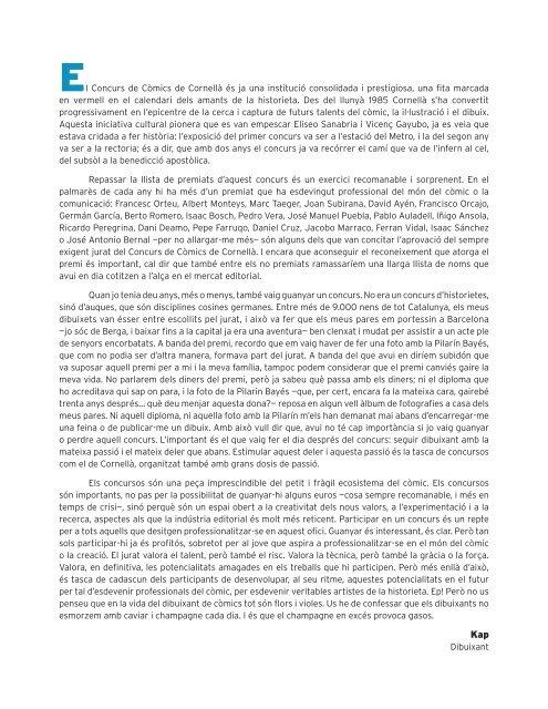 PREMI AL MILLOR GUIó - Ajuntament de Cornellà