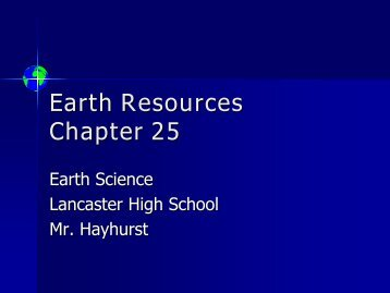 Earth Resources Chapter 25