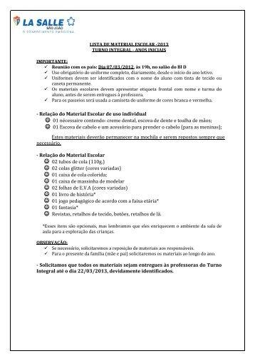 turno integral - Portal La Salle