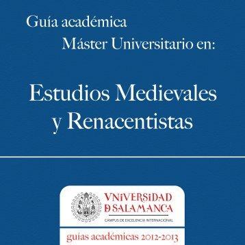 Estudios medievales y renacentistas - Universidad de Salamanca