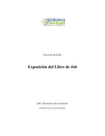 Exposición del Libro de Job - Biblioteca Virtual Universal