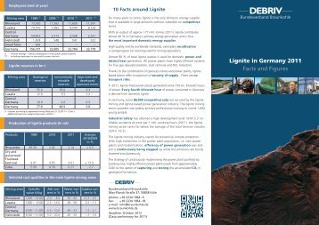 Lignite in Germany 2011 Facts and Figures - LMBV