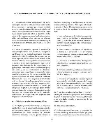 Estrategia para el manejo de los recursos costeros y marinos e