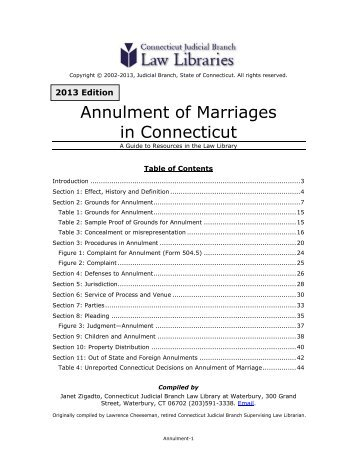 Jd hm 20 summary annulment of marriages in connecticut connecticut judicial solutioingenieria Image collections