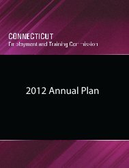 2012 Annual Plan - Connecticut Department of Labor