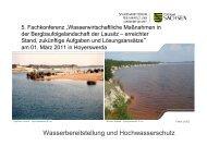 Wasserbereitstellung und Hochwasserschutz/Ulrich Kraus - LMBV