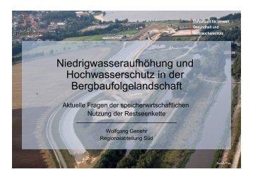 Niedrigwasseraufhöhung und Hochwasserschutz in der ... - LMBV
