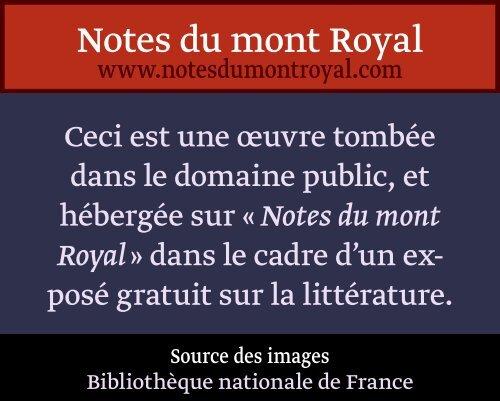 Ibid Notes Du Mont Royal