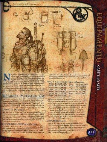 Livro do jogador D&D 3.5 - Equipamentos, armas e ... - DDOBrasil