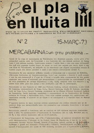 Na2 15-MARÇ-73 MERCABARNA:un greu problema —