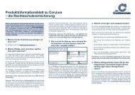 Produktinformationsblatt zu ConJure – die Rechtsschutzversicherung