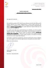 Temporada 2011/2012 CARTA CIRCULAR - Veterans de Catalunya