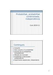 Introducció, probabilitat condicional, teorema de Bayes - DTIC