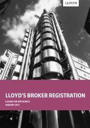 Lloyd's Broker Registration