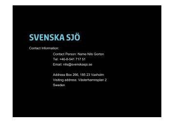 Svenska Sjö AB (24 KB, pdf) - Lloyd's