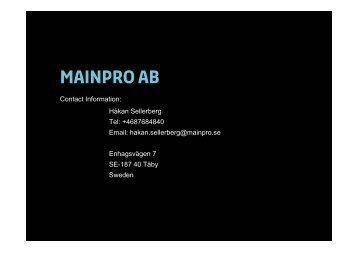 Mainpro AB (23 KB, pdf) - Lloyd's