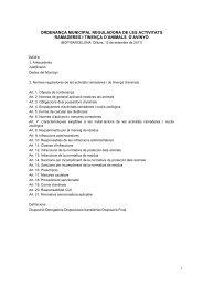 ordenança municipal reguladora de les activitats ... - Infoactivitats