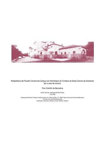 Estudi Estructural Data inserció - Parc Científic de Barcelona