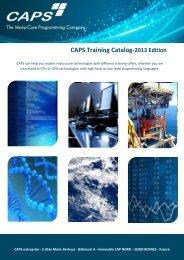 CAPS Training Catalog-2013