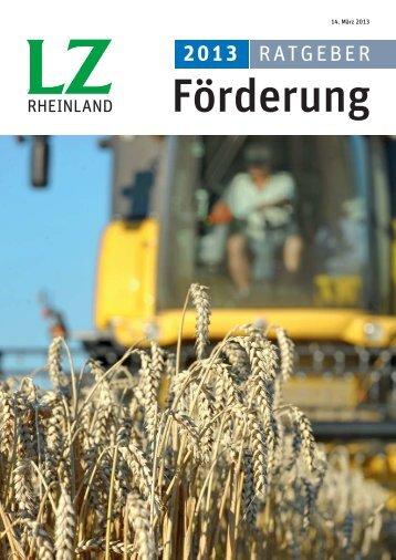 Ratgeber Förderung 2013 - Landwirtschaftskammer Nordrhein ...