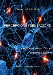 PERCEPCIONS I SENSACIONS