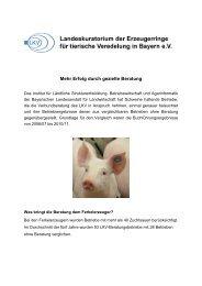 Mehr Erfolg durch gezielte Beratung - LKV Bayern