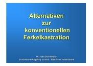 Alternativen zur konventionellen Ferkelkastration - LKV Bayern