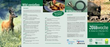 Vierte Wildwoche Oldenburger Münsterland
