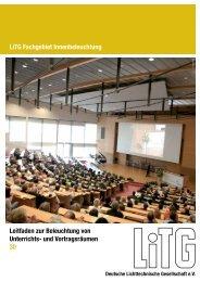 Leitfaden zur Beleuchtung von Unterrichts- und ... - LiTG