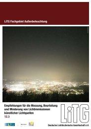 Empfehlungen für die Messung, Beurteilung und Minderung ... - LiTG