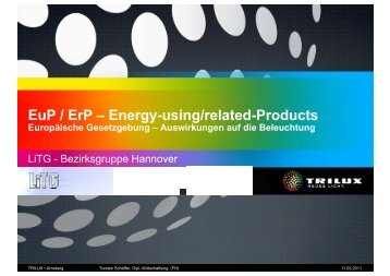 EuP / ErP – Energy-using/related-Products - LiTG