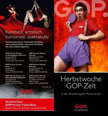 können Sie den GOP Programmflyer zur Herbstwoche ... - Lippstadt