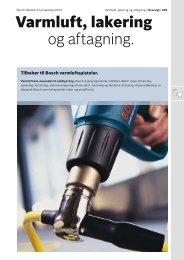 Varmluft, lakering og aftagning. - Bosch el-værktøj