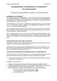"Zusatzqualifikation ""Europakaufmann / Europakauffrau"