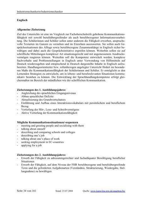 Industriemechanikerin/Industriemechaniker - Berufsbildung