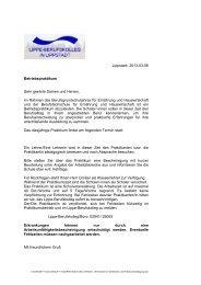 Hinweise für die Betriebe - Lippe Berufskolleg