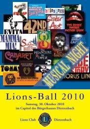 LIONS Ball 2010 - Programm der Musical Night - Lions-clubs.de